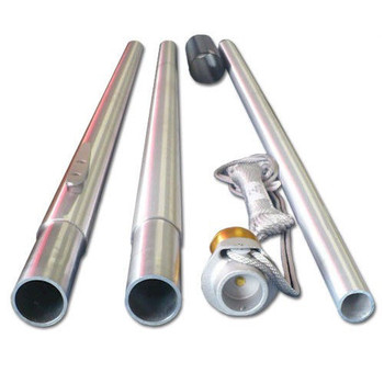 25' Flag Pole Satin Finish 4 Sectional Special Budget Series