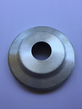 """2 Inch Satin Standard Profile Aluminum Flash Collar With .060"""" Wall Thickness For Flag Pole"""