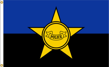 Police Remembrance Support 3ftx5ft Nylon Flag 3x5 Made in USA 3'x5'