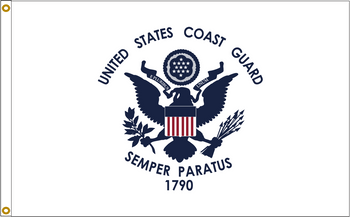 US Coast Guard 5ftx8ft Nylon Flag