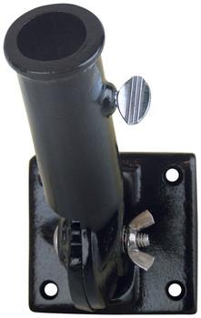 1 Inch Black Painted Aluminum Adjustable Flag Pole Bracket