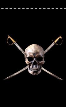 Pirate Jolly Roger Garden Flag