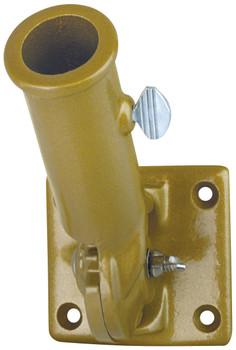 1 Inch Gold Painted Aluminum Adjustable Flag Pole Bracket