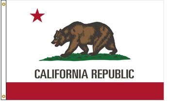 California 6'x10' Nylon State Flag 6ftx10ft