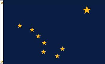 Alaska 6'x10' Nylon State Flag 6ftx10ft