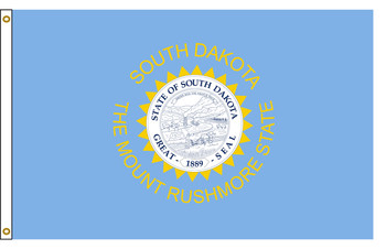 South Dakota 6'x10' Nylon State Flag 6ftx10ft