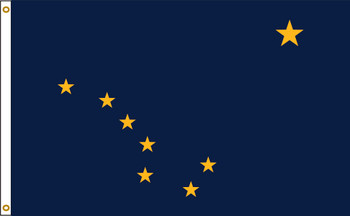 Alaska 8'x12' Nylon State Flag 8ftx12ft