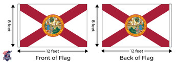Florida 8x12 Feet Nylon State Flag Made In USA