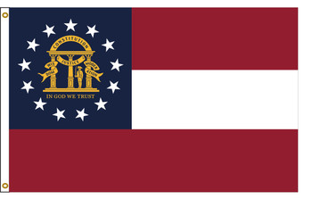 Georgia 8'x12' Nylon State Flag 8ftx12ft