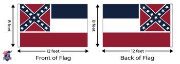 Mississippi 8x12 Feet Nylon State Flag Made In USA