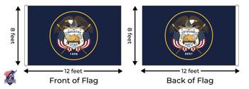 Utah 8x12 Feet Nylon State Flag Made In USA