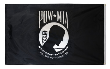 POW MIA Perma-Nyl 3x5 Feet Nylon Double Seal Flag By Valley Forge Flag
