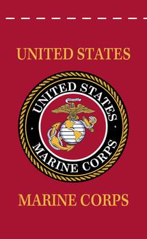 US Marine Corps 18inx12in Nylon Garden Flag