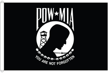 POW MIA Double Sided 8ftx12ft