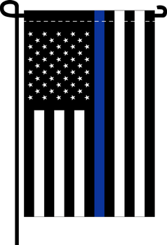 Thin Blue Line US American - Doesn't come with the garden flagpole