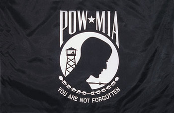 This is the POW MIA flag without the heading in the picture.