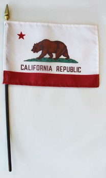 4x6 Inch California Stick Flag