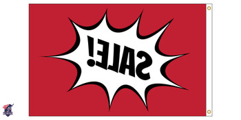 "Custom Single Sided 12inx18in Nylon Flag 12x18 Made In USA 12""x18"""