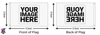 Custom Single Sided 3ftx5ft Nylon Flag 3x5 Made In USA 3'x5'