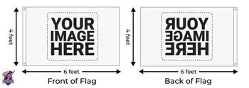 Custom Single Sided 4ftx6ft Nylon Flag 4x6 Made In USA 4'x6'