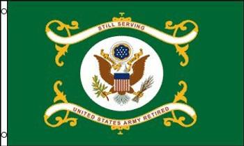 Army Retired Flag  3x5 Feet Nylon Perma-Nyl 35836901