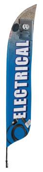 Electrical Blade Flag 2ft x 11ft Nylon