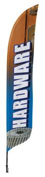 Hardware Blade Flag 2ft x 11ft Nylon