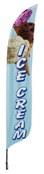 Ice Cream Blade Flag 2ft x 11ft Nylon