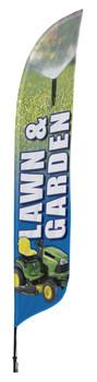Lawn Garden Blade Flag 2ft x 11ft Nylon