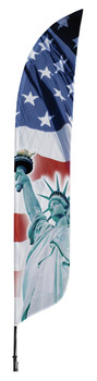 Statue of Liberty Blade Flag 2ft x 11ft Nylon