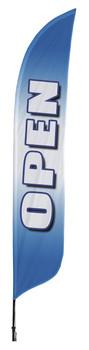 Open Blue Blade Flag 2ft x 11ft Nylon