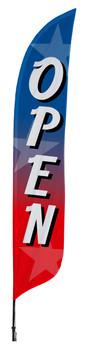 Open Star Blade Flag 2ft x 11ft Nylon