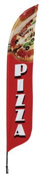 Pizza Blade Flag 2ft x 11ft Nylon