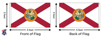 Florida 3x5 Feet Nylon State Flag Made In USA