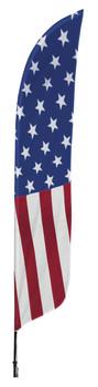 US Flag Flat Blade Flag 2ft x 11ft Nylon