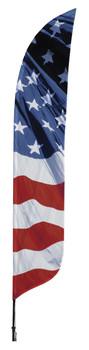 US Flag Wave Blade Flag 2ft x 11ft Nylon