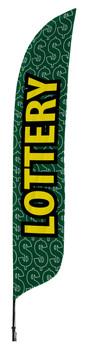 Lottery Blade Flag 2ft x 11ft Nylon