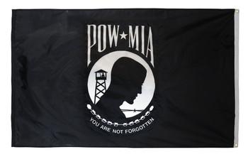 POW MIA Perma-Nyl 4x6 Feet Nylon Double Seal Flag By Valley Forge Flag