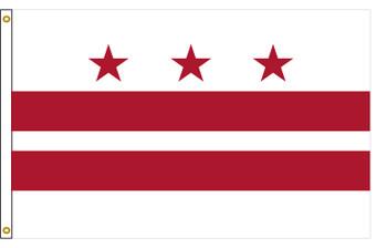 District of Columbia Washington DC 3'x5' Nylon State Flag 3ftx5ft