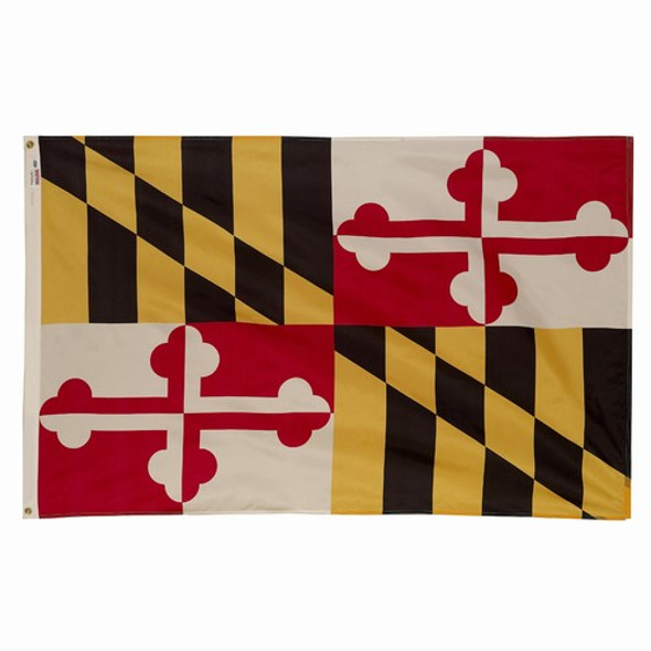 Maryland State Flag 3x5 Feet Spectramax Nylon by Valley Forge Flag 35232200