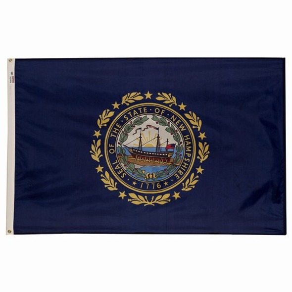 New Hamshire State Flag 3x5 Feet Spectramax Nylon by Valley Forge Flag 35232290