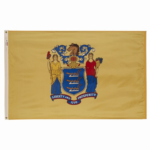 New Jersey State Flag 3x5 Feet Spectramax Nylon by Valley Forge Flag 35232300