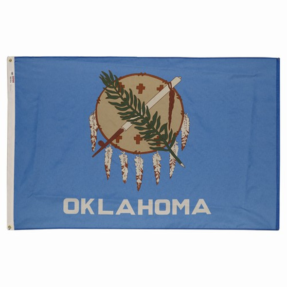 Oklahoma State Flag 3x5 Feet Spectramax Nylon by Valley Forge Flag 35232360