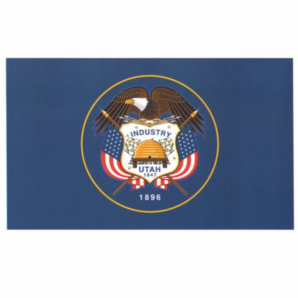 Utah State Flag 3x5 Feet Spectramax Nylon by Valley Forge Flag 35232440
