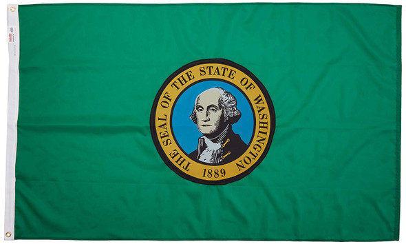 Washington State Flag 3x5 Feet Spectramax Nylon by Valley Forge Flag 35232470
