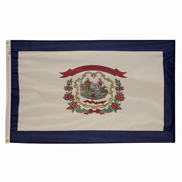 West Virginia State Flag 3x5 Feet Spectramax Nylon by Valley Forge Flag 35232480