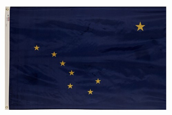 Alaska State Flag 6x10 Feet Spectramax Nylon by Valley Forge Flag 60222020