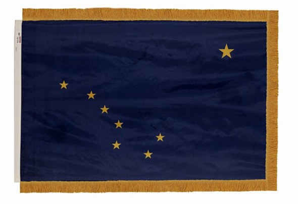 Alaska State Flag 3x5 Feet Indoor Spectramax Nylon by Valley Forge Flag 35242020
