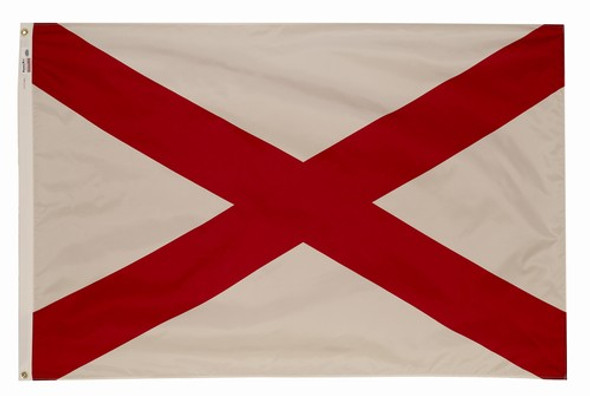 Alabama State Flag 5x8 Feet SpectraPro Polyester by Valley Forge Flag 58332010