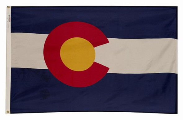 Colorado State Flag 5x8 Feet Spectramax Nylon by Valley Forge Flag 58222060